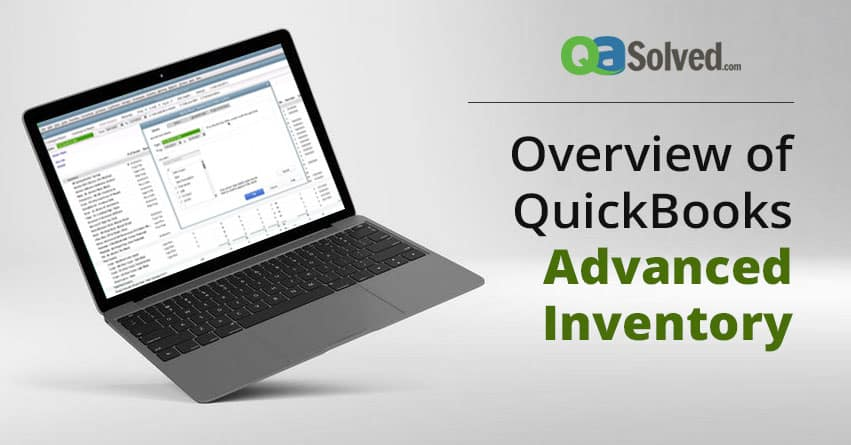 quickbooks advance inventory
