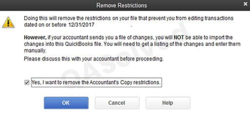 Remove Accountant Copy Restrictions