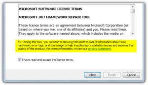 Repair Microsoft .Net Framework