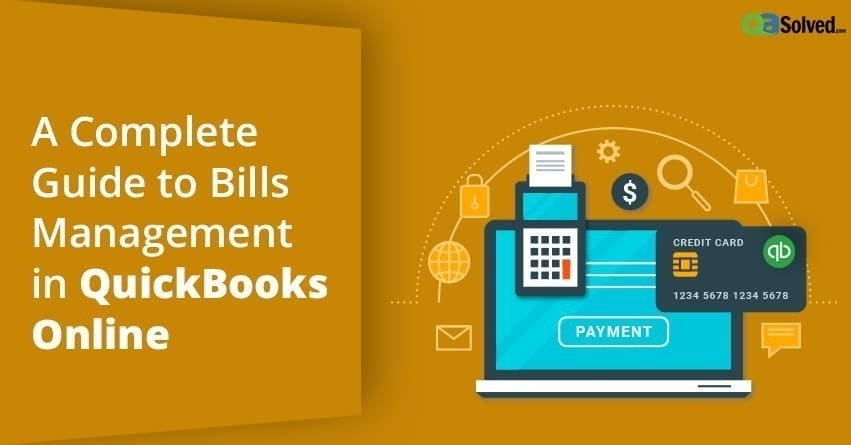 Bills Management in QuickBooks Online