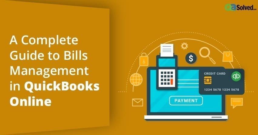 Bills Management in QuickBooks Online
