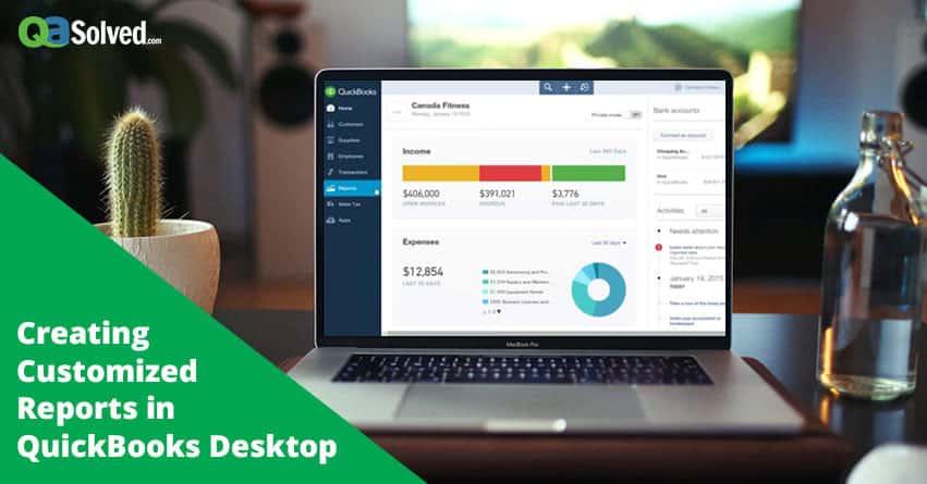 quickbooks customize report
