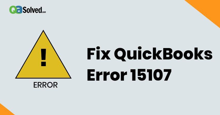 quickbooks error 15107