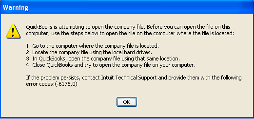 QuickBooks Error 6176