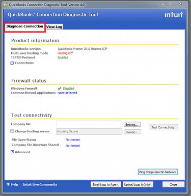 firewall status in quickbooks diagnostic tool