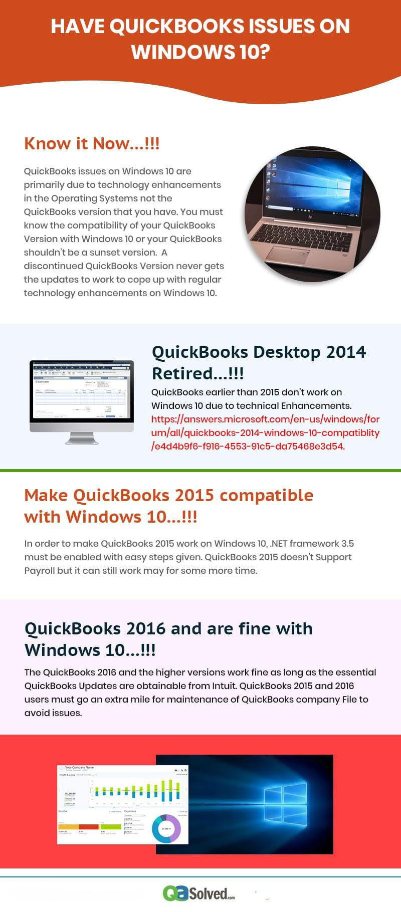 quickbooks compatibility issues with Windows 10