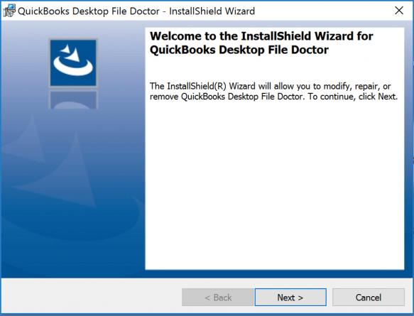 quickbooks desktop file doctor installshield wizard
