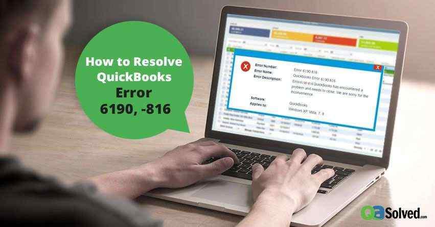 quickbooks error 6190 and 816