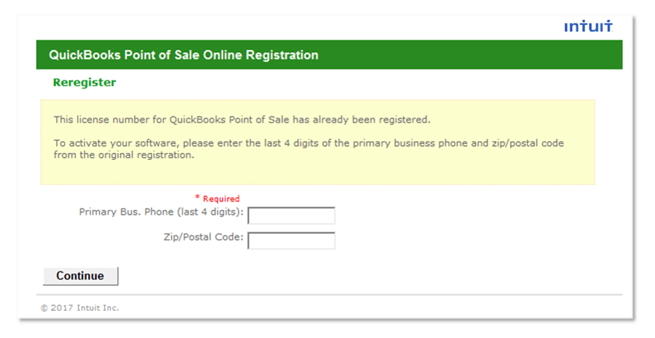 QuickBooks POS Error 176103 - Unable to Activate the Product | Qasolved