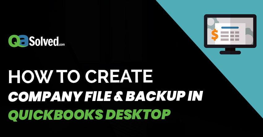 company file & backup in quickbooks