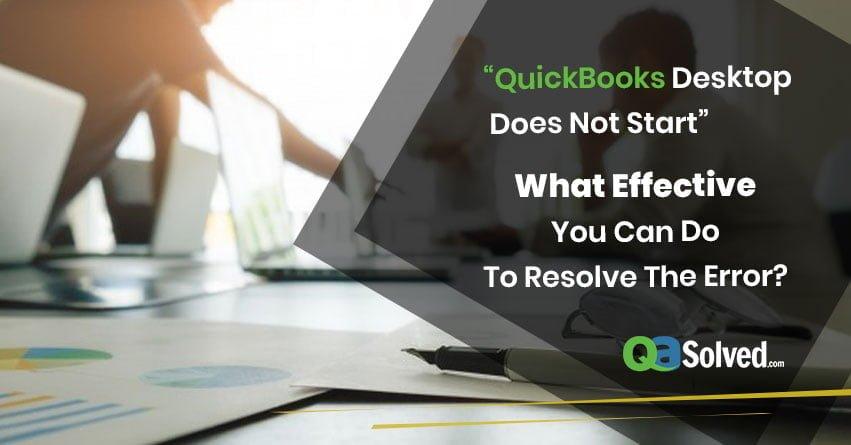 quickbooks desktop starting error