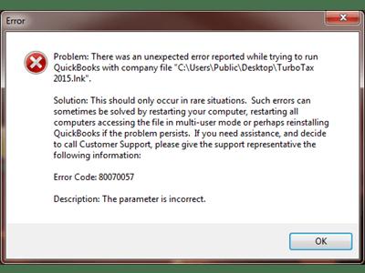 Error Code 80070057
