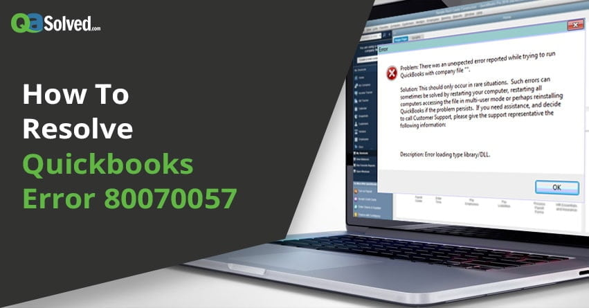 quickbooks error code 80070057