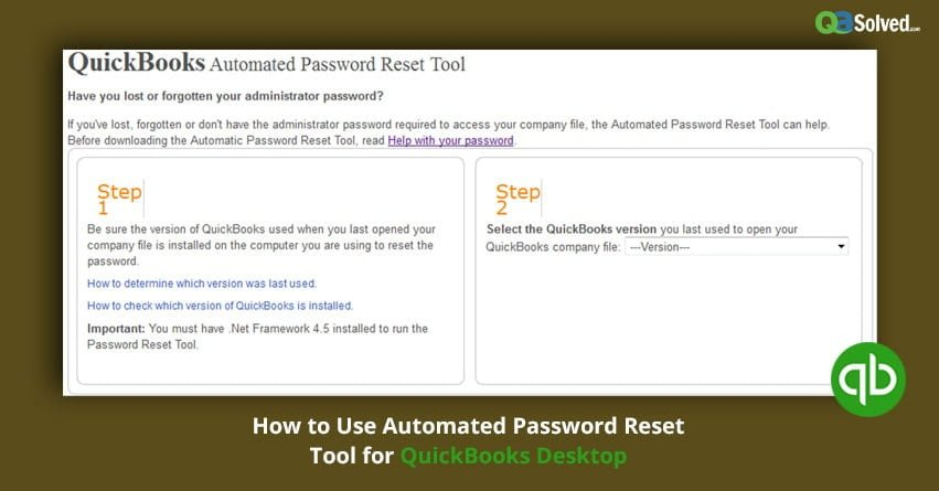 How to Use Automated Password Reset Tool for QuickBooks Desktop?