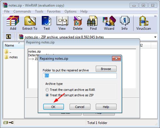 Remake the damaged folder