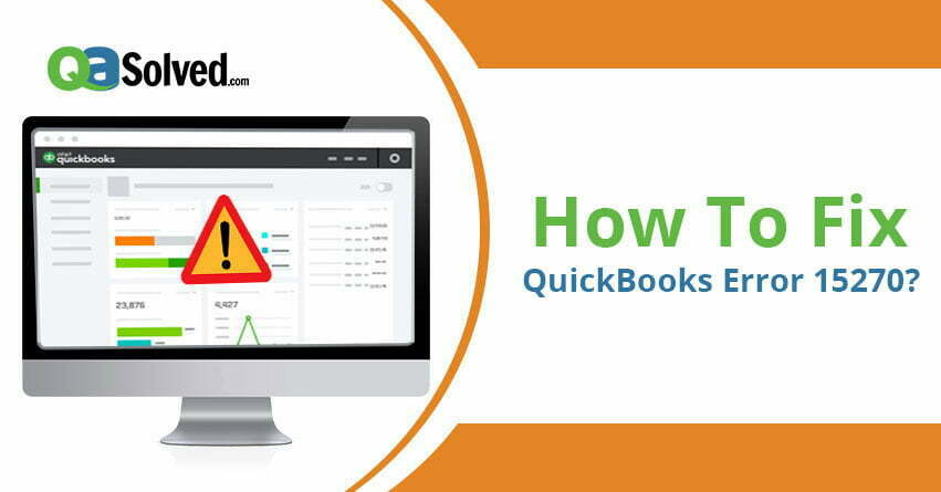 quickbooks error 15270
