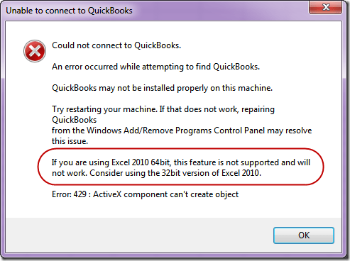 QuickBooks Error 429