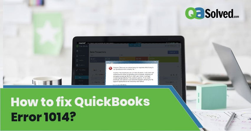 quickbooks error 1014