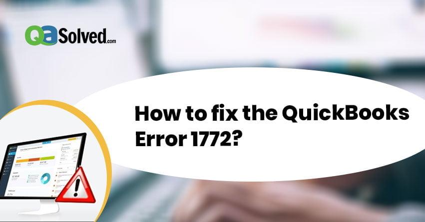 quickbooks error 1772