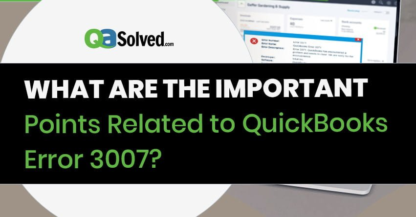 quickbooks error 3007
