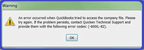 QuickBooks error -6000 -82