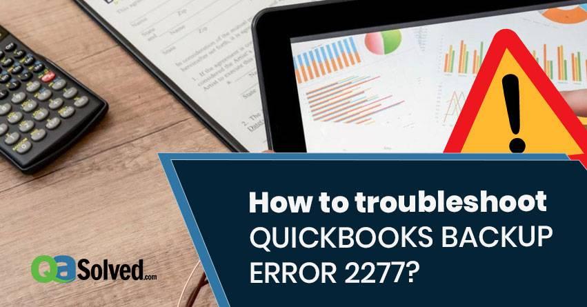 quickbooks backup error 2277
