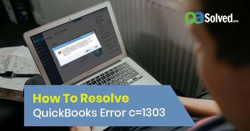 quickbooks error 1303