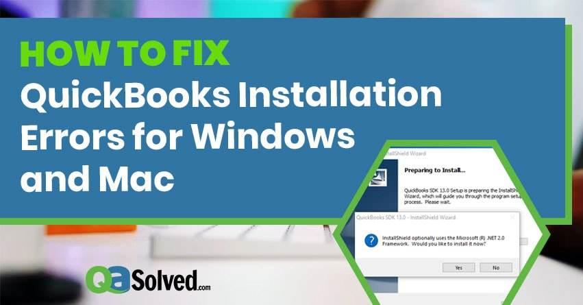 quickbooks installation error
