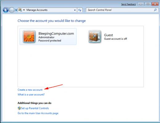 creating a new windows user