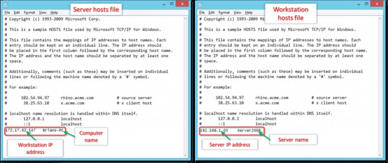edit windows host file