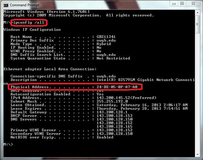 enter ip configuration