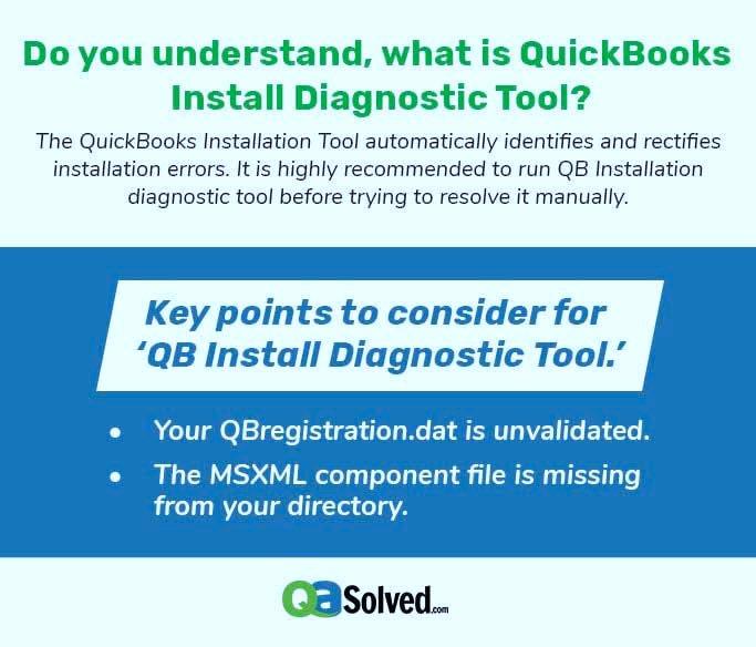 quickbooks install diagnostic tool infographic