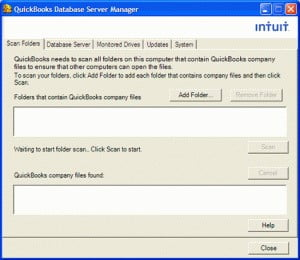 launch the quickbooks database server manager