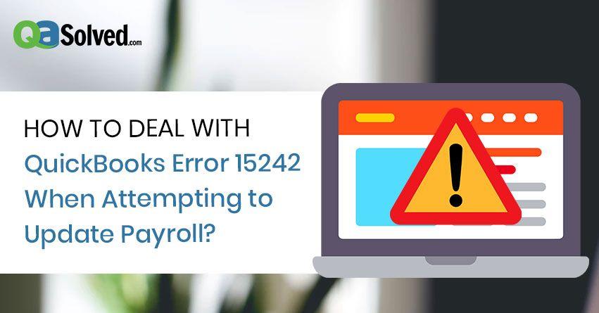 quickbooks error 15242