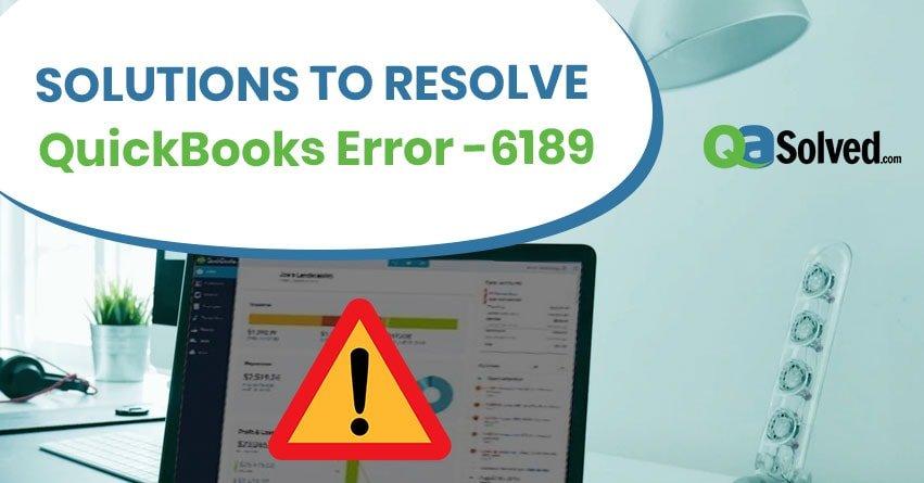 quickbooks error -6189 816