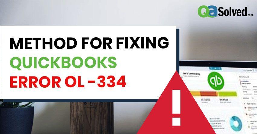 quickbooks error ol -334