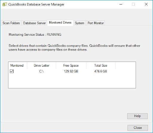 run quickbooks database server manager