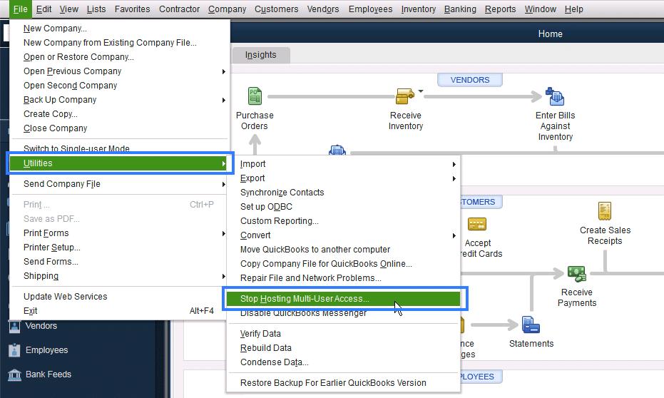 stop hosting multi user access