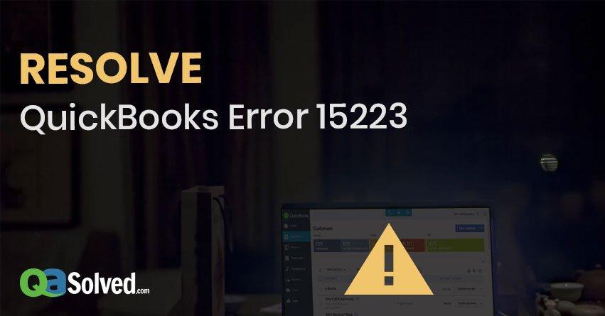 quickbooks error 15223