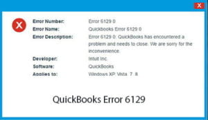 QuickBooks Error Code 6129