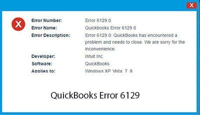 QuickBooks Error Code 6129