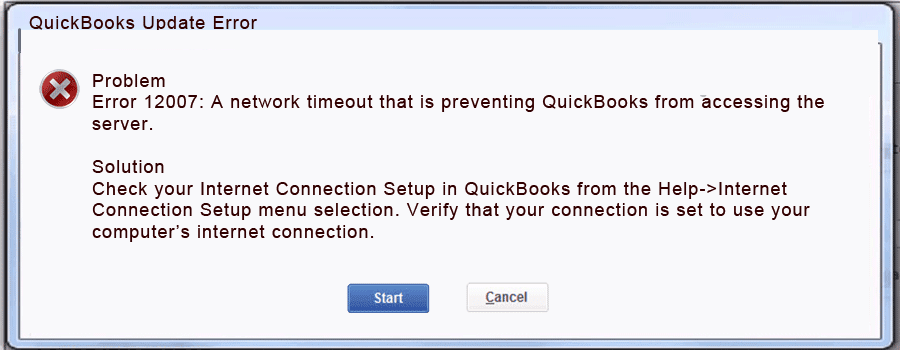 How to Fix QuickBooks Error 12007 (Resolved) - QASolved