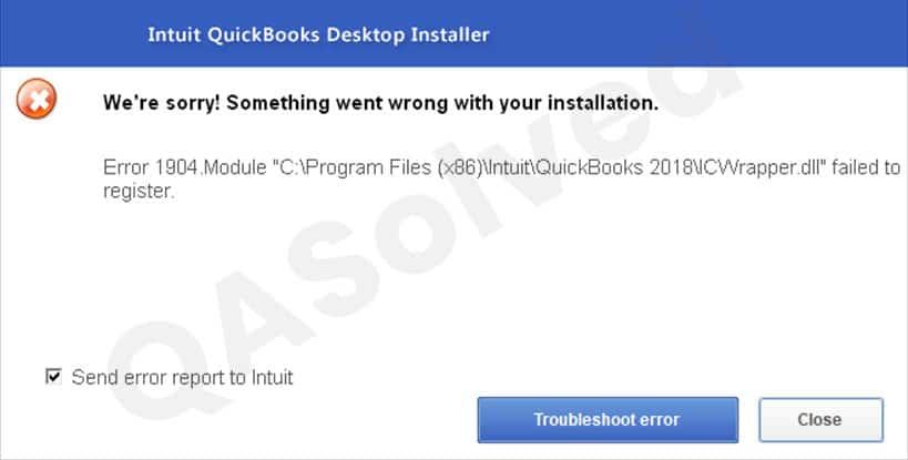 QuickBooks Error Code 1904
