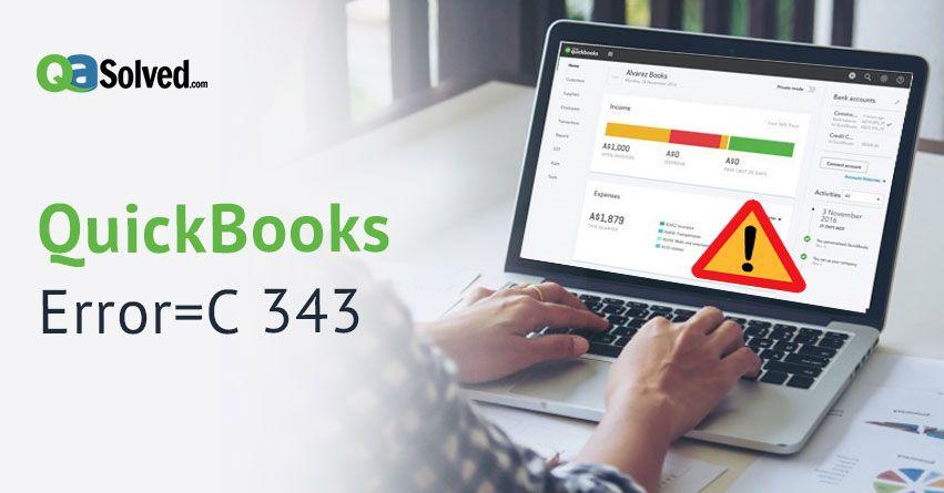 quickbooks error c 343