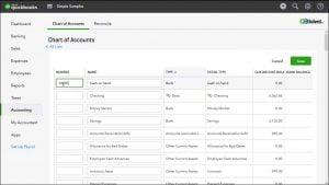 add account in quickbooks online