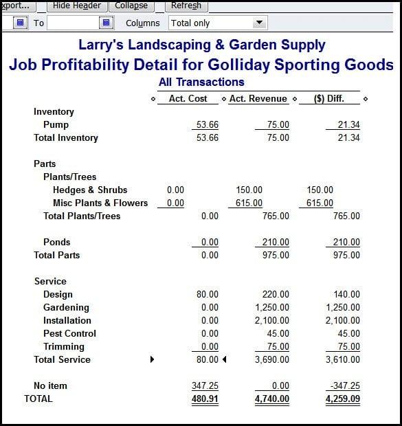 Design Job Types in QuickBooks Job Costing