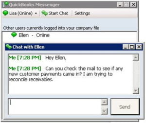 quickbooks messenger