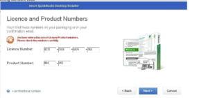 Incorrect QuickBooks License Product Number