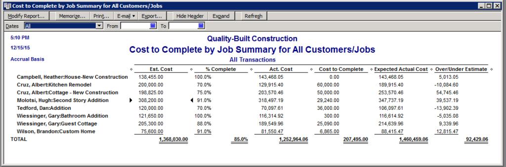 Producing Bills in QuickBooks Job Costing