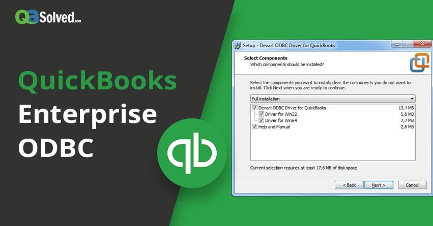 quickbooks enterprise odbc